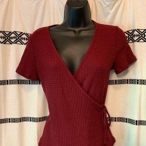Burgundy Wrap Shirt